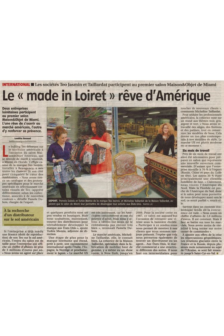 "La Republique du Centre - Le ""Made in Loiret"""