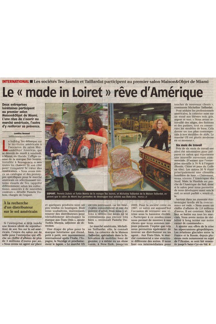 """La Republique du Centre - Le """"Made in Loiret"""""""